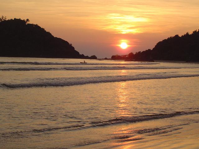 Sunset view of Palolem Beach Goa