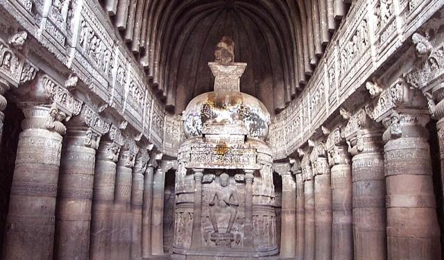 """This photo """"Ajanta_Ellora_caves-_Maharashtra,India"""" @wikipedia from Yashasvi nagda made available under an Attribution license."""