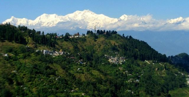 View of the majestic Kanchenjunga range from Darjeeling
