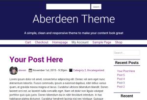 Aberdeen theme