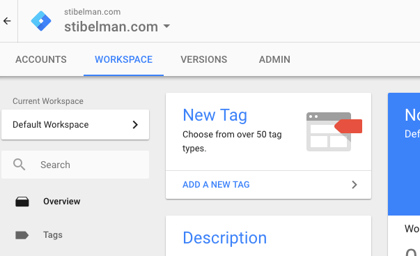 Click on the New Tag button to get started.