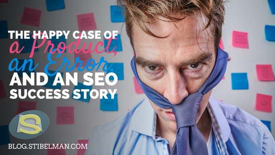 The happy case of a product, an error and an SEO success story