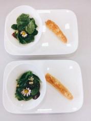Spinatsalat mit Gewürzseelen
