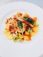 Saltim bocca mit Fenchel-Kürbis-Gemüse