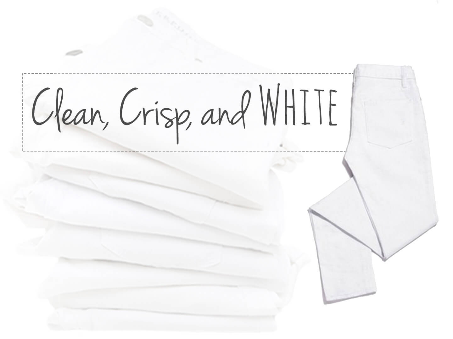 How To Keep Your White Denin Clean And Crisp