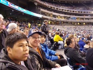 Fr. Steve and the boys enjoying a baseball game!