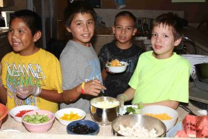 Healthy eating at St. Joseph's Indian School.