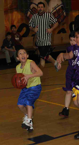 St. Joseph's Lakota (Sioux) boys have started their basketball season.