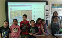 The Lakota children witnessed history as a new Pope was named on March 13, 2013.