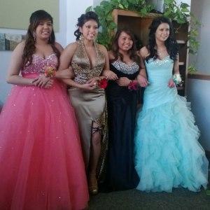 The Lakota girls love dressing up for prom!