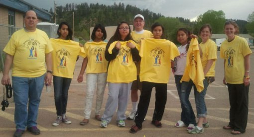During their cultural trip, the Lakota (Sioux) girls took in a powwow and Fun Walk in Lame Deer, Montana.