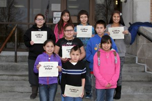 The Lakota children participated in a spelling bee.