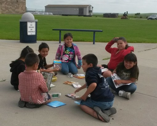 St. Joseph's Bookmobile visits numerous reservation communities each summer sharing books with those in need.