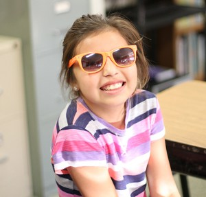 The first day of school, the Lakota children wore sunglasses – their future's so bright, they gotta wear shades!
