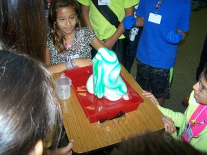 St. Joseph's fifth graders learned about chemical reactions during an experiment called Elephant Toothpaste.