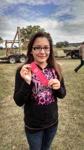 One of St. Joseph's students took second place in the hand throwing pumpkin contest.