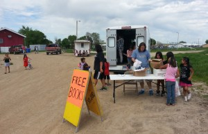 Each summer, St. Joseph's bookmobile travels to reservation communities in South Dakota.