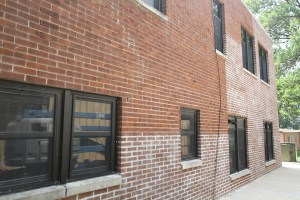 Tuck-pointing is the process of repairing mortar joints in brick masonry walls by replacing old mortar with new mortar.