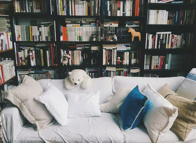 梳化後擺放薄身飾櫃或書櫃, 令客廳增加收納空間之餘更有家居風格