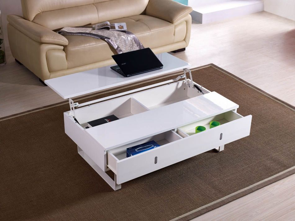 變形茶几增加實用度, 減少客廳擺放其他家具