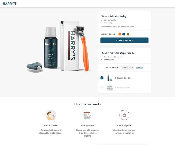 eCommerce product launch strategy example harrys