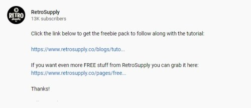 youtube video tutorial description