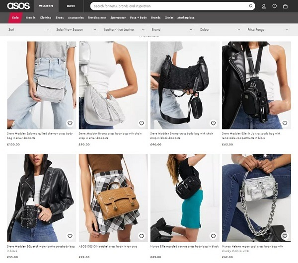 ASOS crossover back example