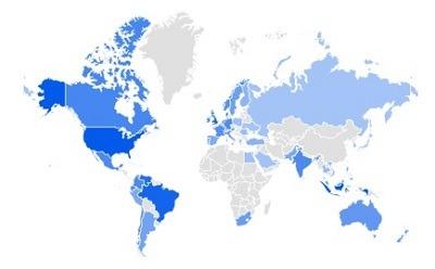 blazers google trending product per region
