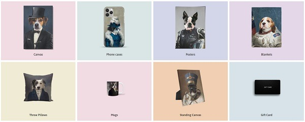 pet photos on products crown and paw