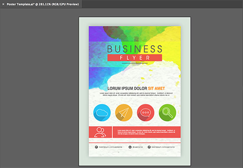 indesign vector poster template