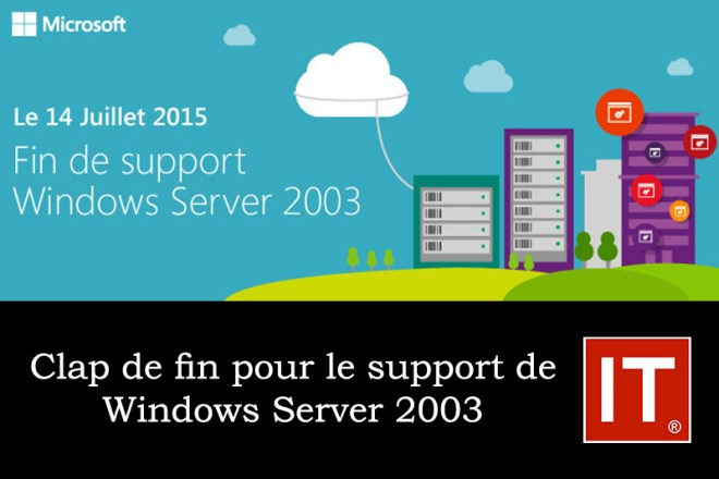 Clap de fin pour le support de Windows Server 2003