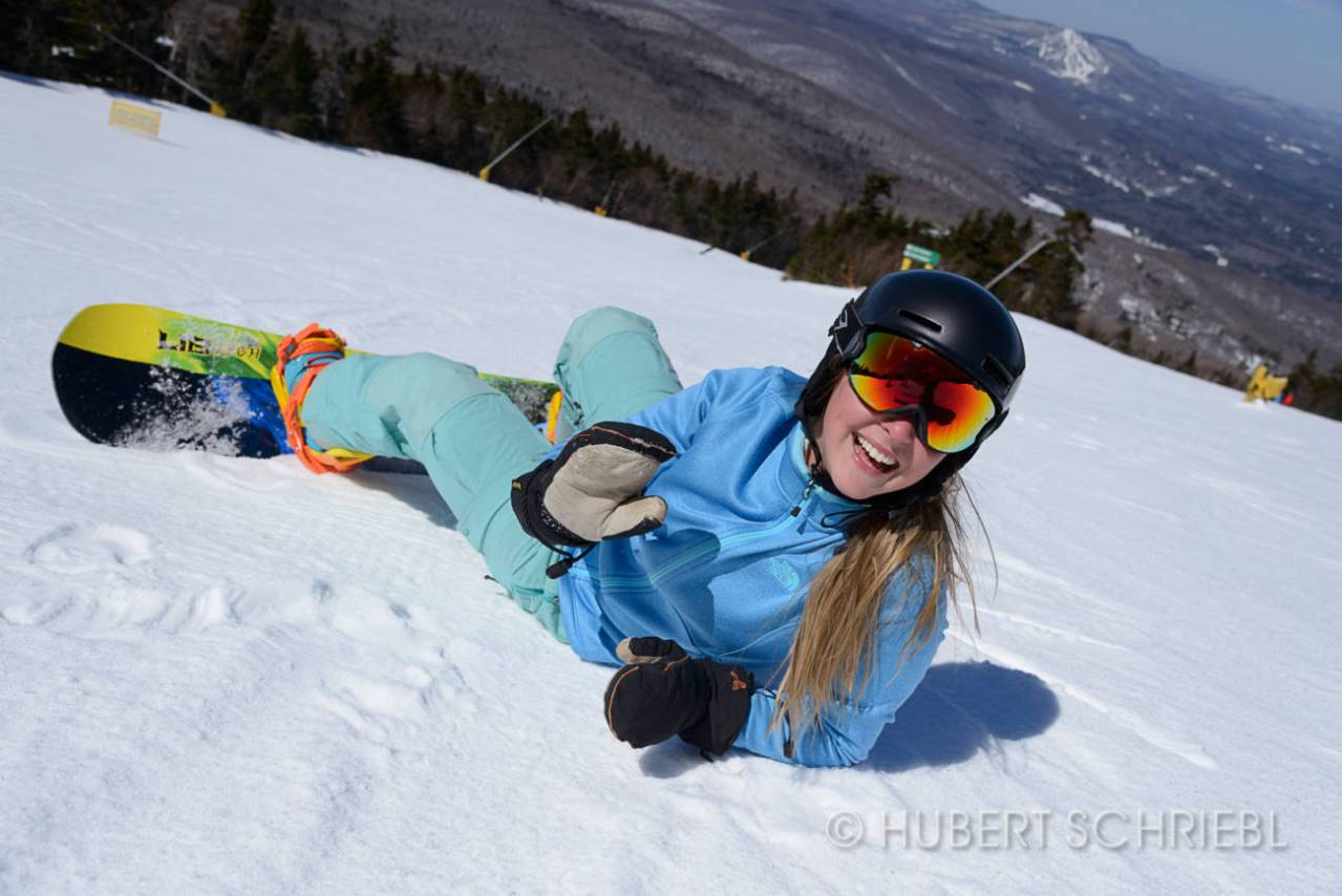 Spring Snowboarder at Stratton Mountain