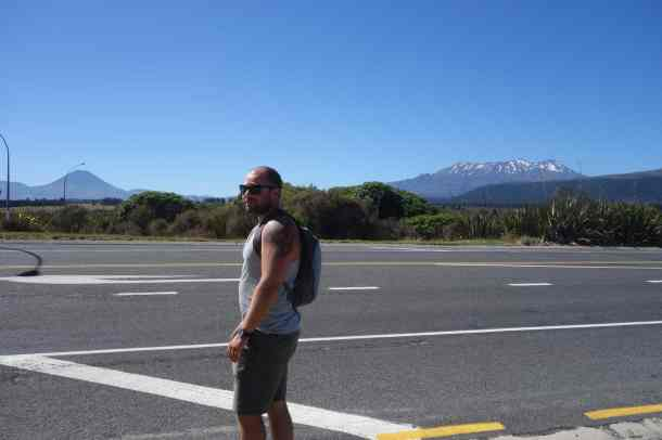 The closest Sam got to Tongariro
