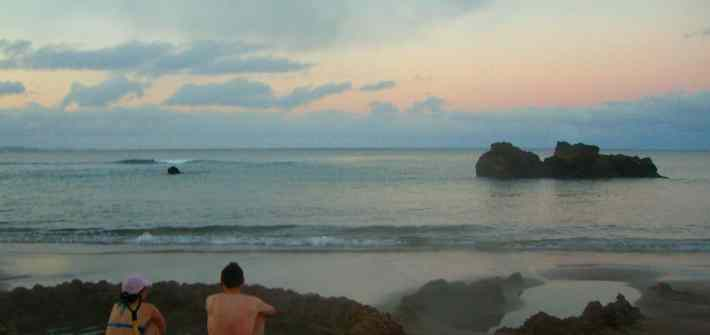 Sunset at Hot Water Beach