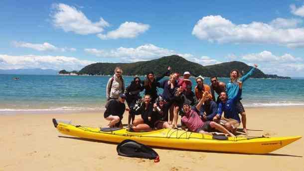 Lolly - after kayaking Abel Tasman National Park