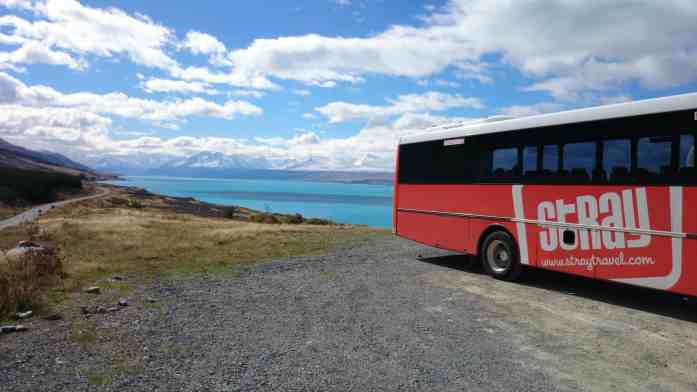 Mt Cook and blue skies in autumn with Stray NZ