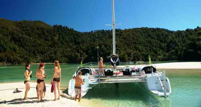 Abel Tasman Sailing Adventures - beach stops - Stray NZ