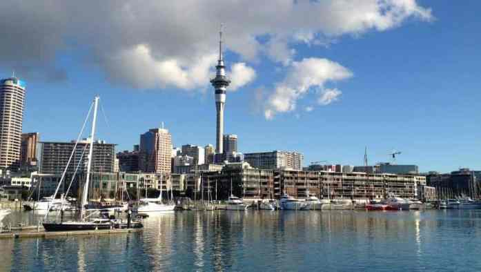 Downtown Auckland from Wynyard Quarter