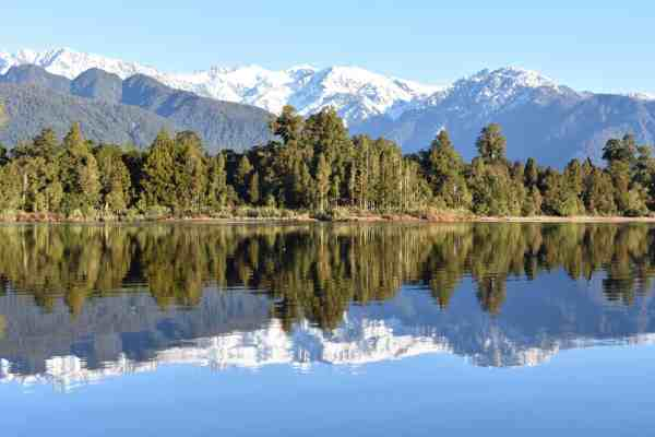Glacier Country Kayaks - Lake Mapourika Reflective Waters