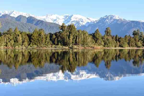Glacier Country Kayaks - Lake Mapourika Reflective Waters