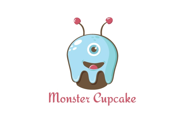 Bakery logo - Monster Cupcake