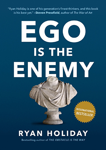 Ego is the Enemy by Ryan Holiday book review, Stuart Bush Studio