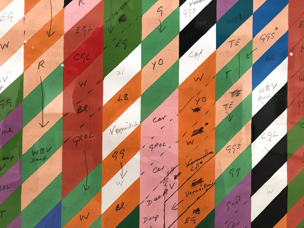 Bridget Riley art, stuart bush studio notes, art exhibitions london