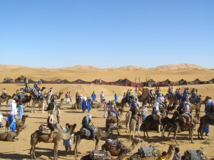the-caravan-assembling-tents-in-the-background