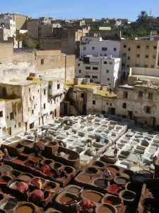 the-tannery-white-pits-are-lime-for-tanning-others-are-for-dyeing