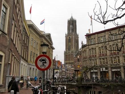 Bicycle riders in Utrecht