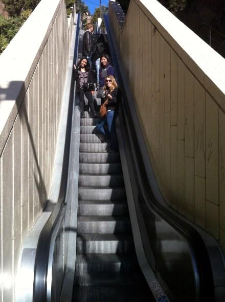 Escalator in Barcelona