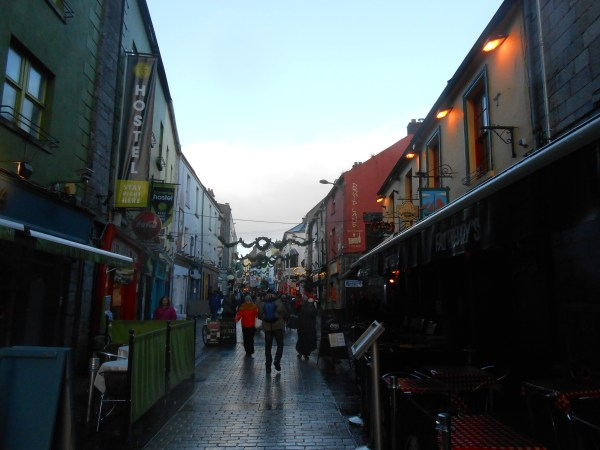 One view of the ever bustling Shop Street