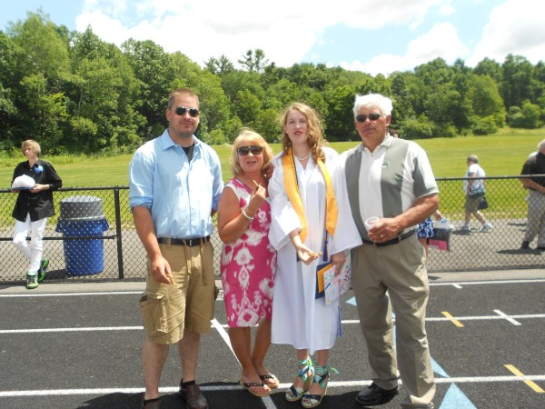 Dan, Aunt Linda, me & Uncle Ed, at my graduation.