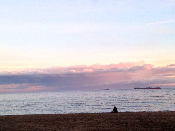 Enjoying the view and a calm evening in Malaga, Spain.